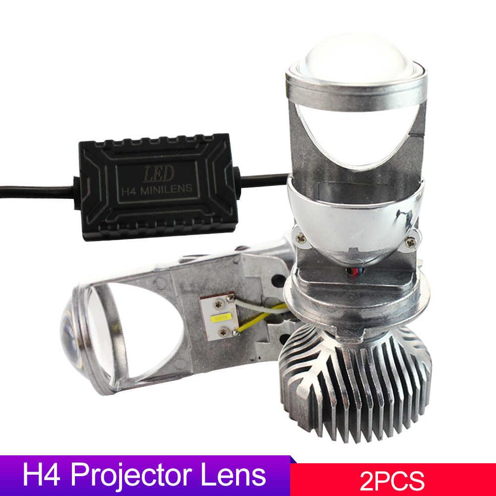 Светодиодный H4 9003 Мини Би светодиодный проектор 1 5 дюймов фар линзы 60 Вт 5500 к фары