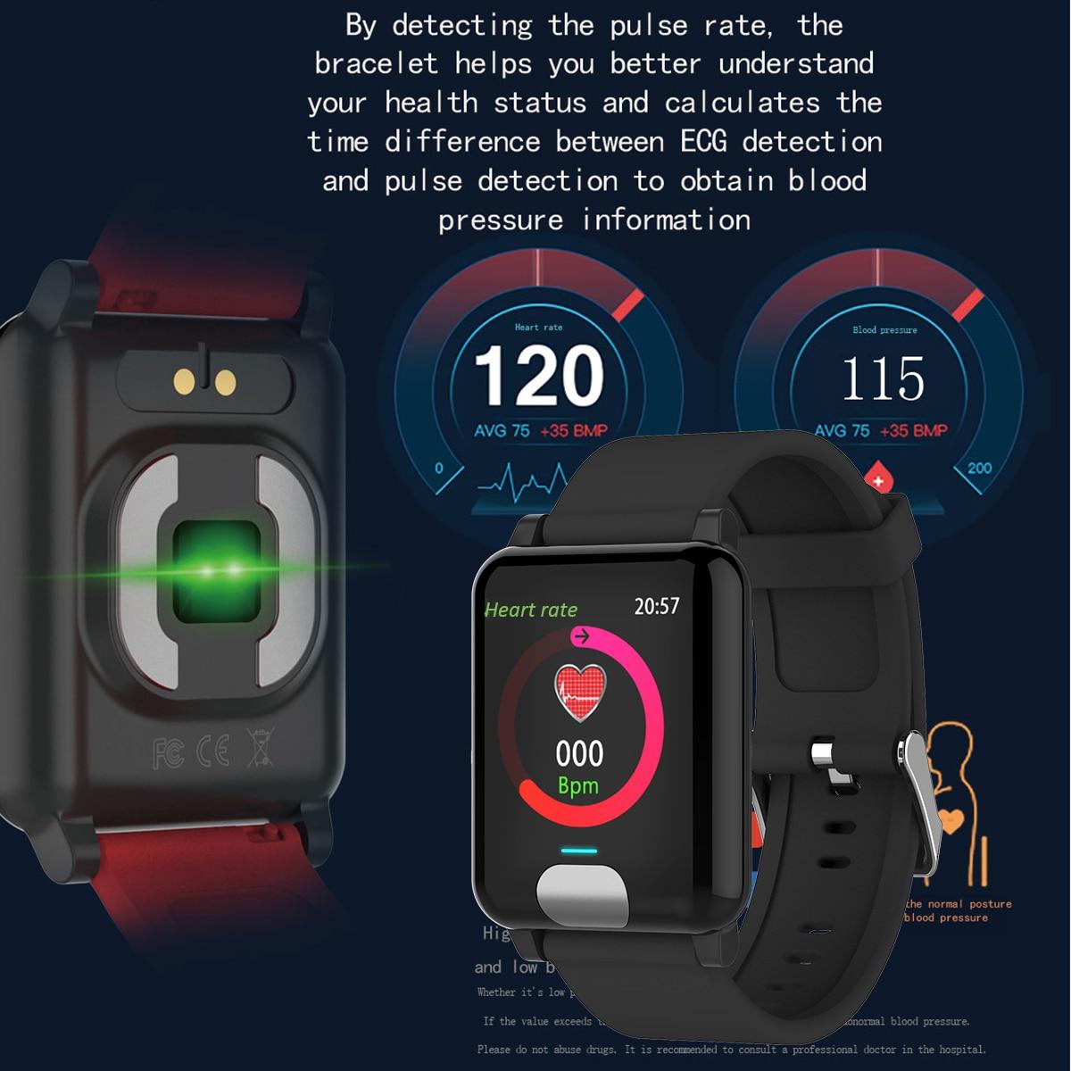 Image 2 - XGODY E04 ECG + PPG умный Браслет монитор сердечного ритма фитнес трекер Смарт браслет кровяное давление браслеты для наручных часов для IOS Android-in Смарт-браслеты from Бытовая электроника