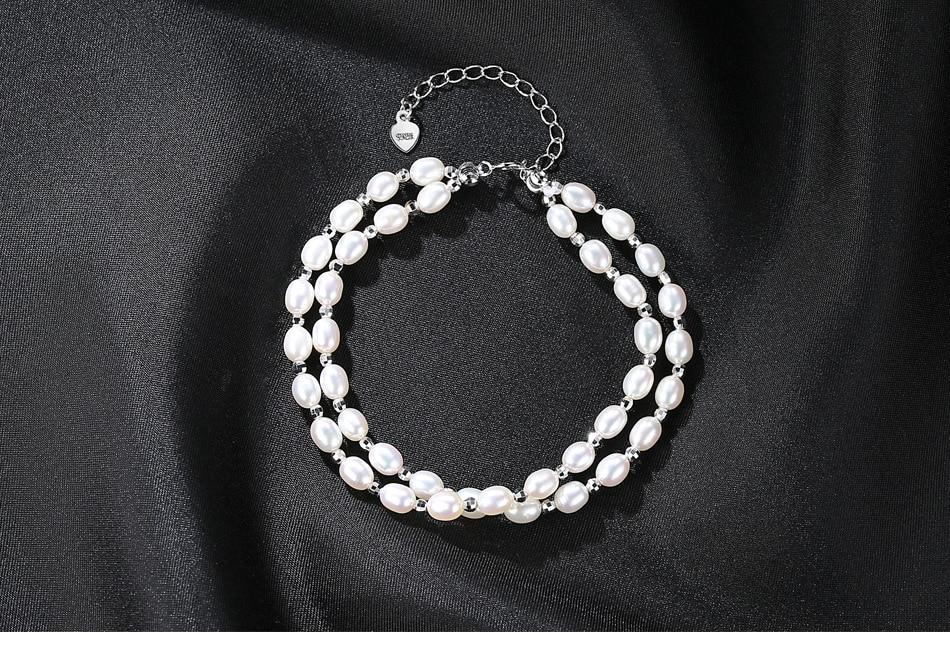 Браслет пресноводного жемчуга небольшой свежий двойной слой девочек ювелирные изделия FB02