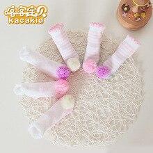 KACAKID/Официальный магазин, носки для новорожденных девочек, комплект, кружевные носки принцессы для маленьких девочек, милый Комплект носков для новорожденных девочек, 1296