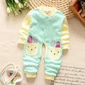 Spring Autum0-16M newborn Baby girls clothes winter Fleece Baby Rompers Baby Jumpsuit Costume clothing jumpsuit infant clothing