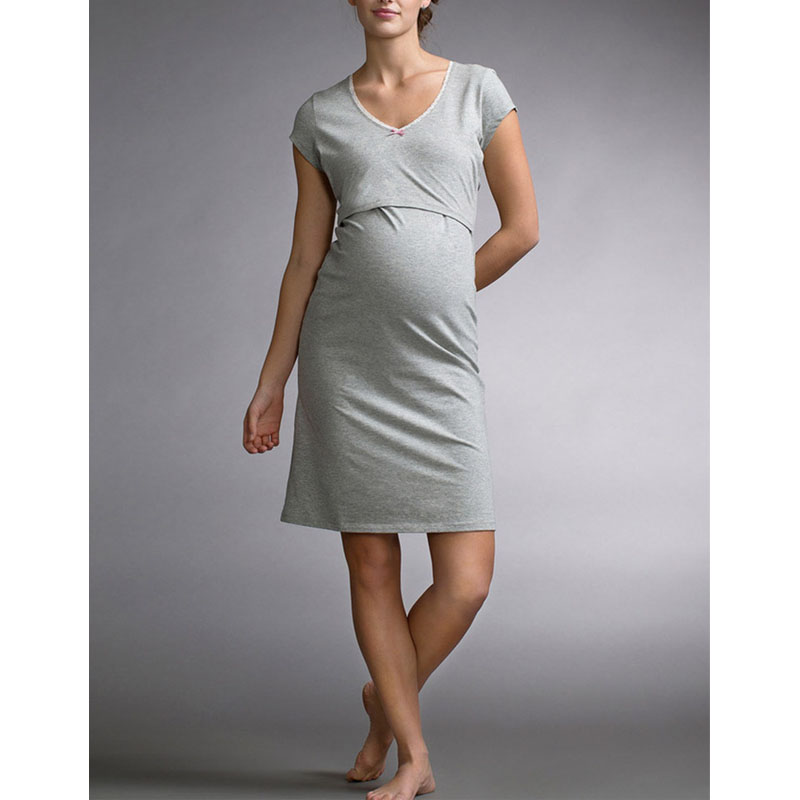Short Sleeve Maternity Nursing Dresses Breastfeeding Pregnancy Clothes For Pregnant Women Dress Feeding Maternity Clothing