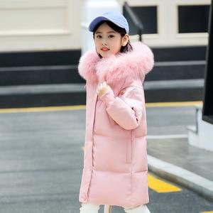 Image 5 - Модная одежда для девочек до 30 градусов, зима 2019, куртки на утином пуху, детские пальто, теплая плотная одежда, детская верхняя одежда для холодной погоды