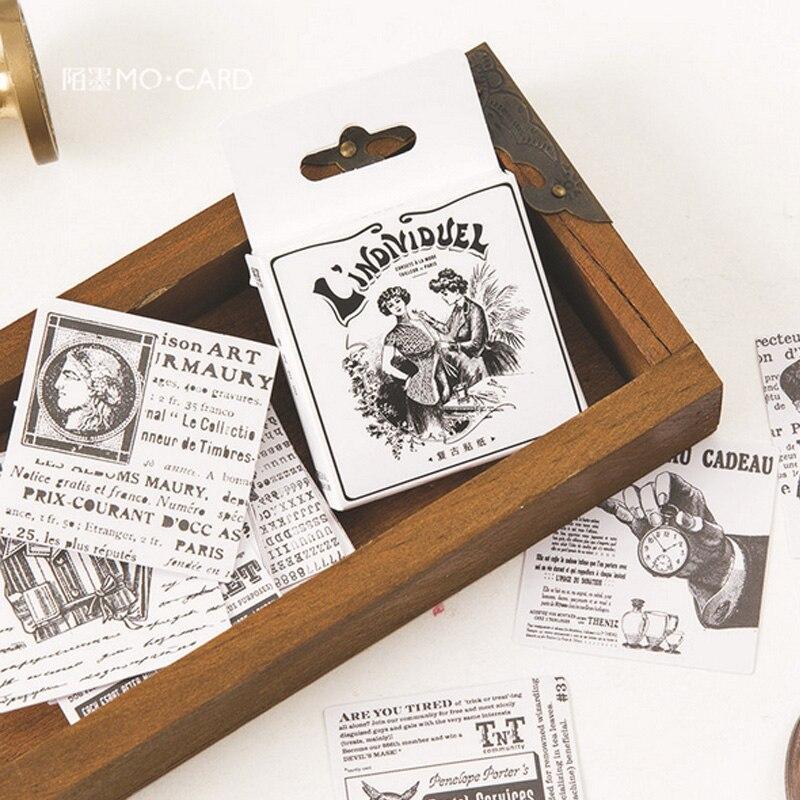 45 шт./кор. Винтаж современности мини бумаги наклейки украшения DIY дневник в стиле Скрапбукинг печать кавайная наклейка