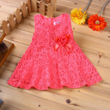 Summer Baby Dresses Girl Princess Dress Flower Toddler Infant Newborn Baby Girls Party Wedding Dress Baby Lace Dress Brand