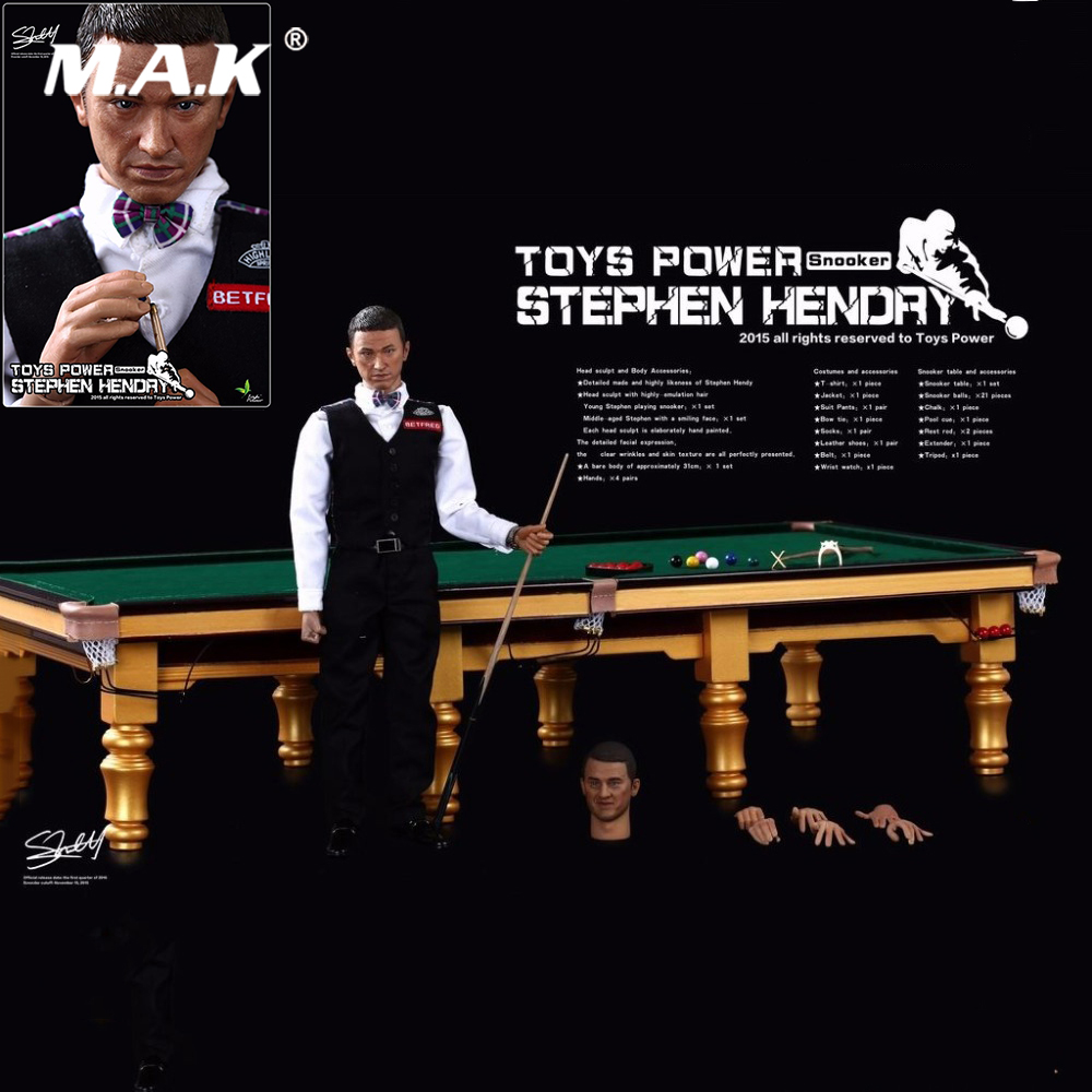 TP-CT008 1/6 Full Set Action Figure Billiard Emperor Snooker Stephen Hendry Pool Player Collectible 12