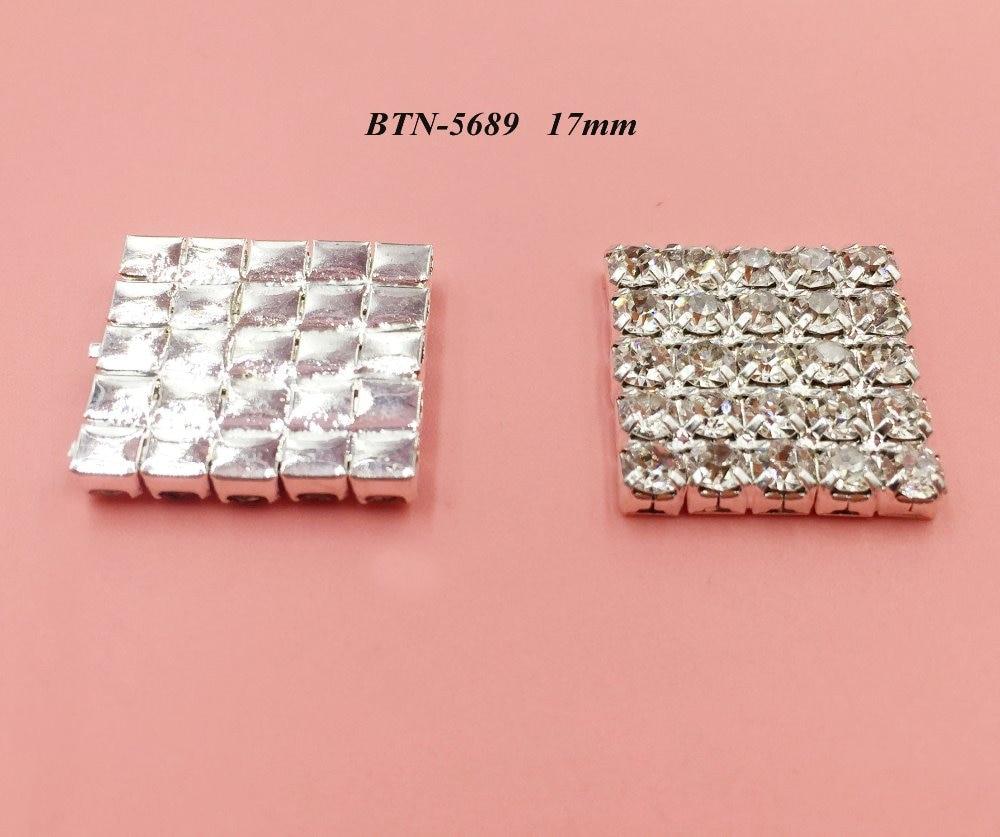 Free shipping flatback rhinestone button 100PCS/lot for hair accessary (BTN-5689)