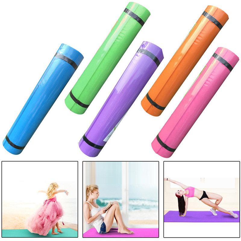 4MM EVA Thick Durable Yoga Mat Sports Accessories Non-slip Exercise Fitness Pad Mat Slimming Training Health Femme Lose Weight