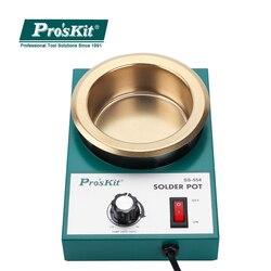 Marka Pro'skit SS-554H wysokiej jakości 300W sterowany temperaturą garnek do lutowania mały okrągły stopiony piec cyny 2.2kg topienia cyny