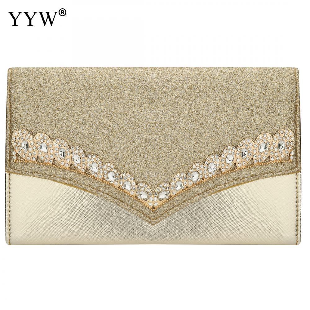 Black Envelope Wedding Clutch Rhinestone Luxury Gold Wedding Bag Silver Clutch Female 2019 Luxury Handbags Women Bags Designer