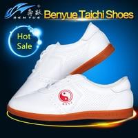 2016 Groothandel Wit PU Lederen Taichi/Tai Chi Schoenen Kung Fu Schoenen Wing Chun TaiJi Slipper Martial Art Sneaker Taekwondo Schoenen