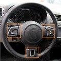 ABS Chrome Руль Блестки Украшения Для Volkswagen Golf 6 MK6 Jetta MK5 MK6 Бора Поло, автомобильные аксессуары
