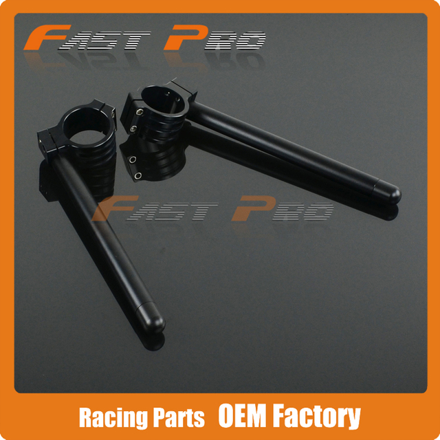 Motorcycle CNC Aluminum 53MM Adjustable Handlebars Clipons Clip-on For Ducati 748 749 999 916 996 998 Ohlins and Showa models