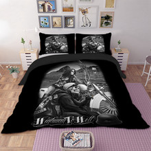 3d Halle Moto beauty skull duvet cover bedding set single twin full queen king size polyster bedlinen(China)