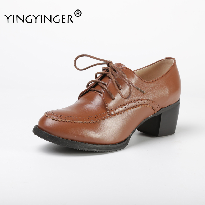 YINGYINGER Women's Custom-made Flats Shoes Genuine Lace Up Leather Shoes Female Hand-made Oxfords Shoes Ladies Plus Size Shoes managing projects made simple