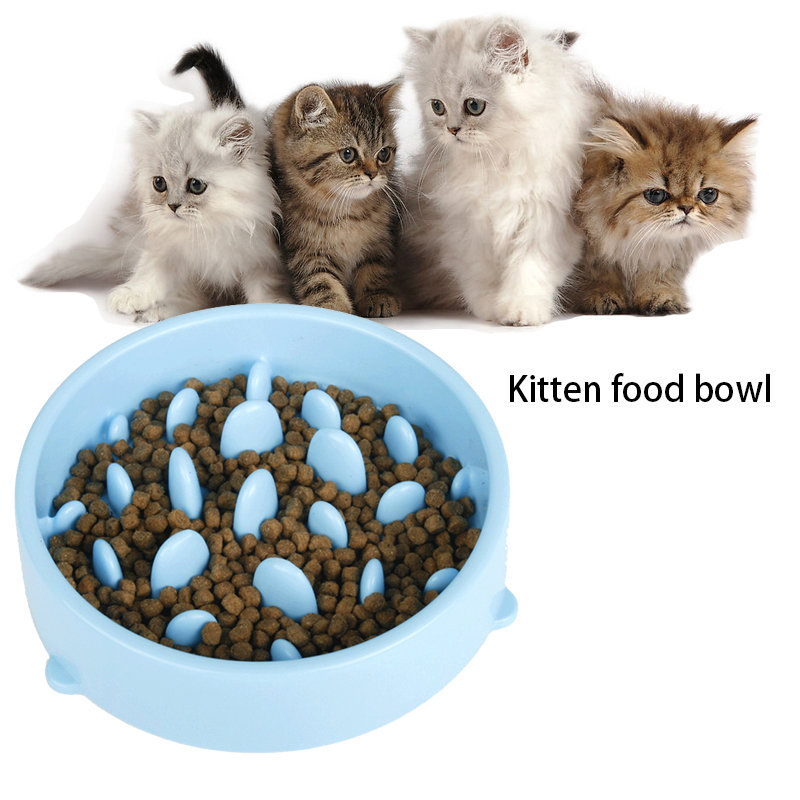 Diy Cat Slow Feeder: 2017 New Pet Slow Food Bowl Puppy Slow Down Eating Feeder