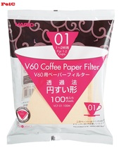 FeiC Hario vcf 01 Coffee Natural Paper Filters No bleach for 2 cups for Barista VCF-01 suitable for vd-01