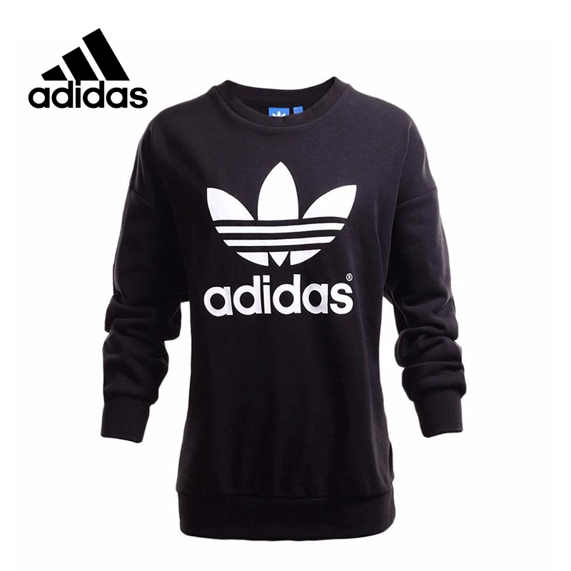 New Arrival Official Adidas Originals TREFOIL SWEATSHIRT Women's Pullover Jerseys Sportswear adidas new arrival official ess 3s crew men s jacket breathable pullover sportswear bq9645