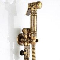 2015 Antique Brass Bathroom Shattaf Portable Bidet Shower Toilet Bidet Faucet ABS Bidet Shower Shower Bidet