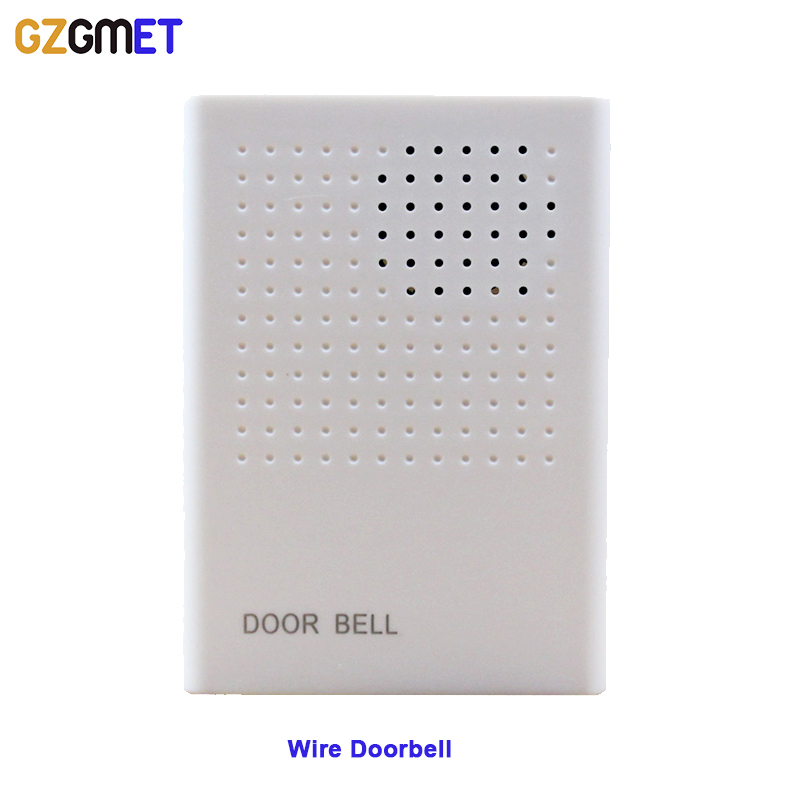 GZGMET DC 12V 90 DB ABS Fire Proof Wired Doorbell for Door Access Control System with  Buzz Tones цены онлайн