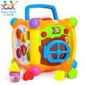 HUILE BRINQUEDOS 936 Crianças Atividade Cubo Alfabeto Brinquedo Do Jogo Do Bebê 13 Empilhável Blocos de Aprendizagem Infantil Da Criança Do Bebê Jogo de Música Brinquedos presentes
