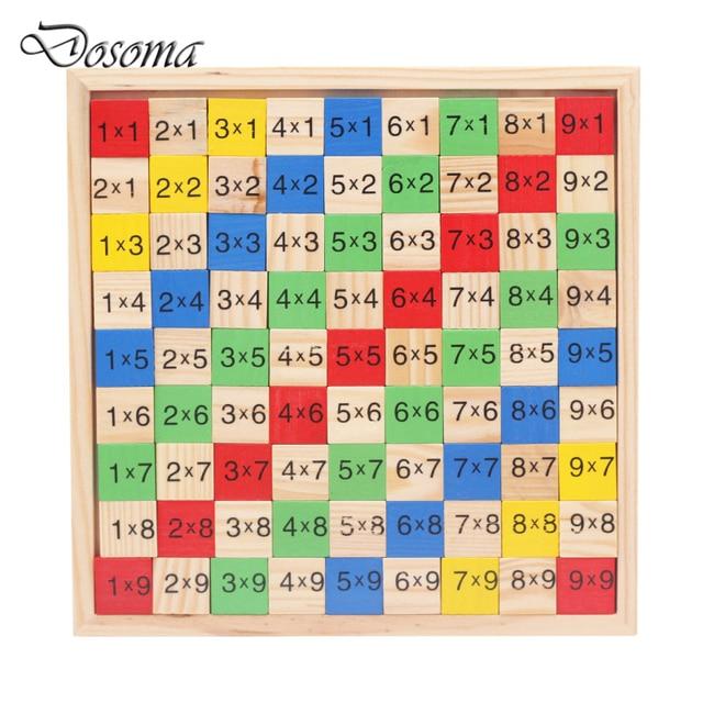 Монтессори Таблица Умножения Деревянные Дети Развивающие Игрушки 9*9 Арифметика Математика Игрушки Фигура Строительные Блоки Рождественский Подарок