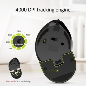 Image 3 - Delux M618Plus RGB Ergonomic Vertical Mouse 6 Buttons 4000 DPI Optical Computer Mouse With Removable Palm Rest For PC Laptop