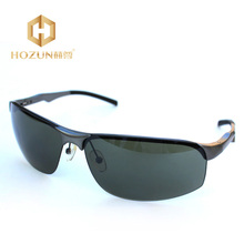 HOZUN Men UV Protection Polarized Sports Sunglasses New Fashion Leisure Sun Glasses Green Driving Eye-wear Accessories LM019 Z20