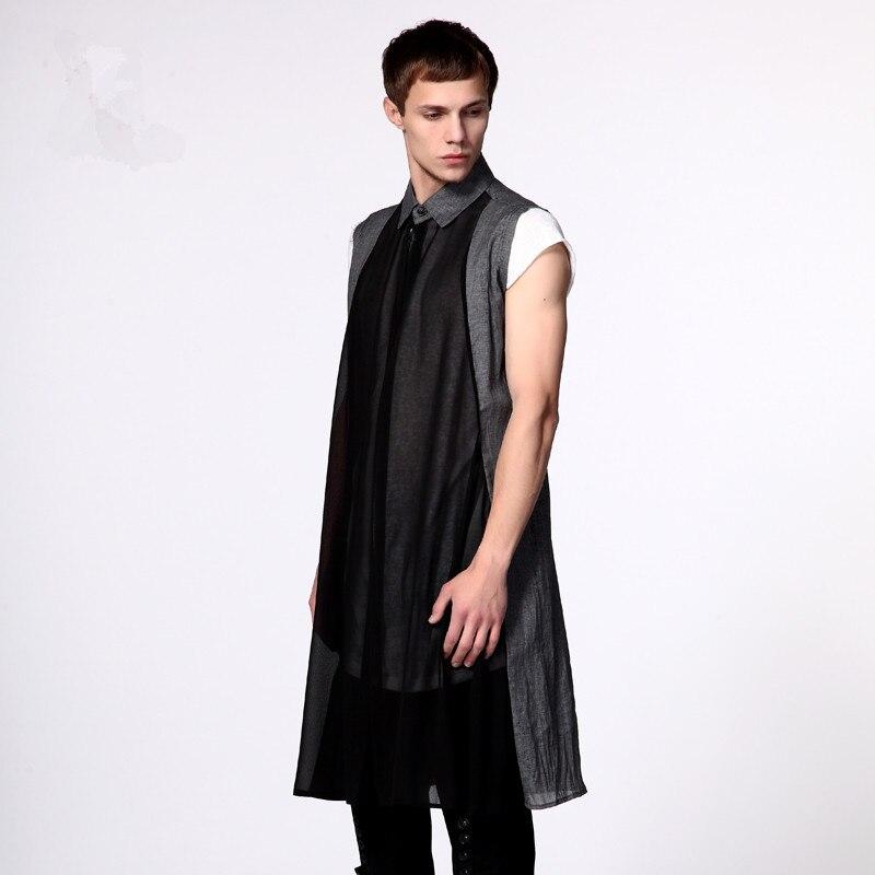Hot Jeunes Vêtements Une Lâche Gilet Picture New Costumes Mince As Cardigan Manches Chemise Longue Spinning Solaire Hommes 2018 De Chanteur Sans rwrF7q