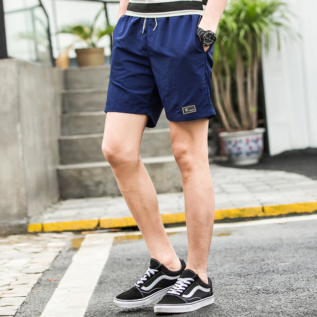 Beach Shorts for Men Solid Colors  4