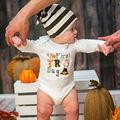 Новорожденные Дети Baby Boy Девушка Благодарения Костюмы Одежда Новый Комбинезон Боди Одежда С Длинным Рукавом
