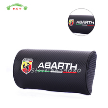 Car Seat Neck Pillow Carbon Fiber Headrest for Abarth 595 695 fiat 500 124 spider Punto cabrio Auto Interior Accessories