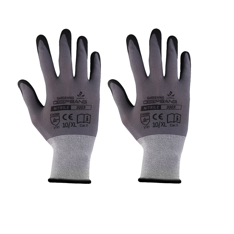 Mechanics Work Gloves Breathe Waterproof Nitril Coating Safety Garden Gloves Protective Glass ,Gardening ,Construction Gloves 50pcs disposable safety protective latex for home cleaning industria rubber long female kitchen wash dishes garden work gloves a