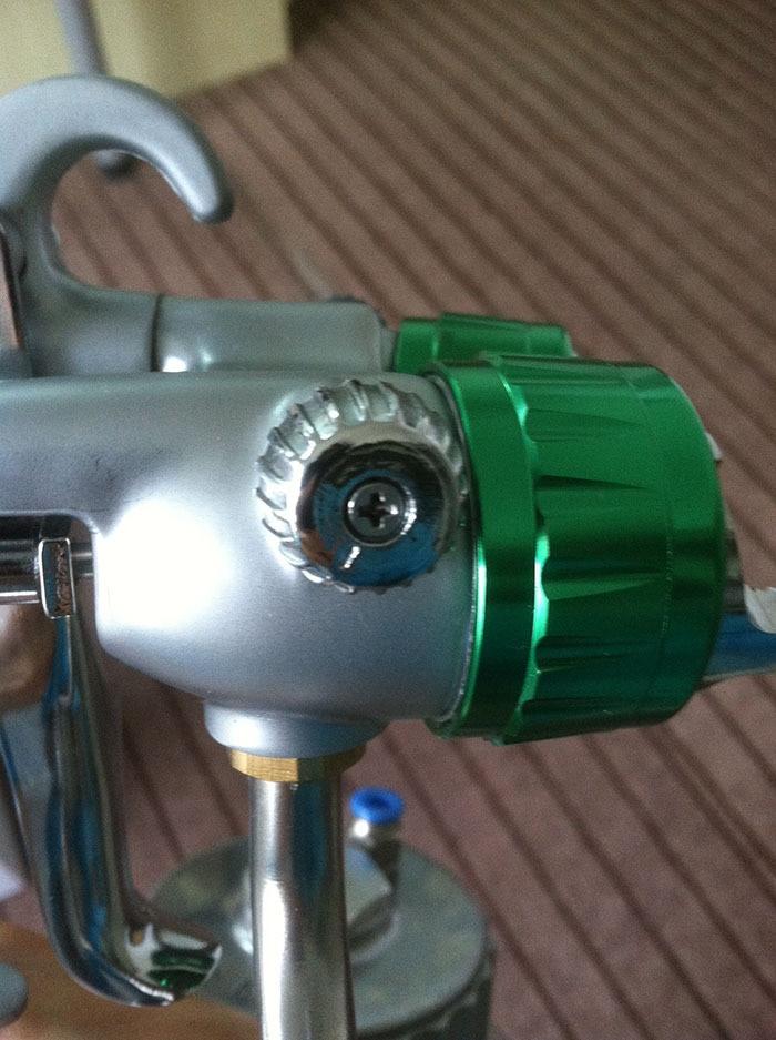 SAT1200 kuldkromaatiline pihustusvärv veepõhine pihustuspüstol - Elektrilised tööriistad - Foto 5