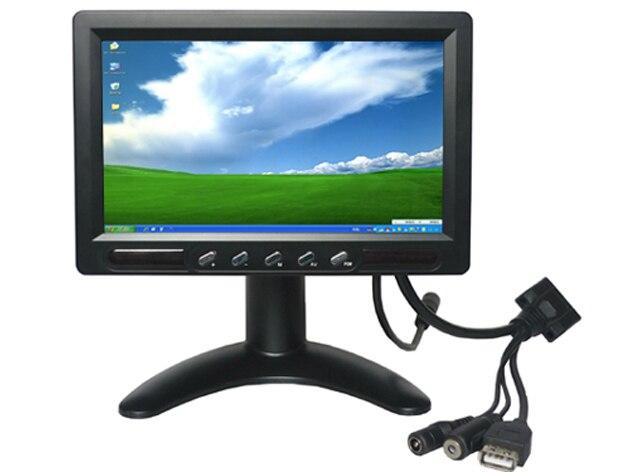 """7 """" настольный TFT-LCD сенсорный монитор с av-в для автомобиля"""