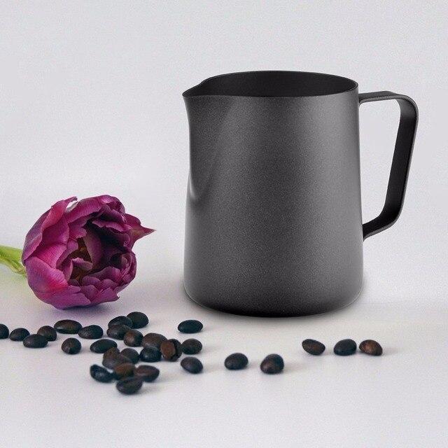 Black Milk Jug For Steaming And Latte Art 3