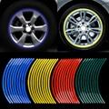 20pcs Strips Motorcycle Car Sticker Wheel Tire Stickers Reflective Rim Tape motorcycle Car Styling