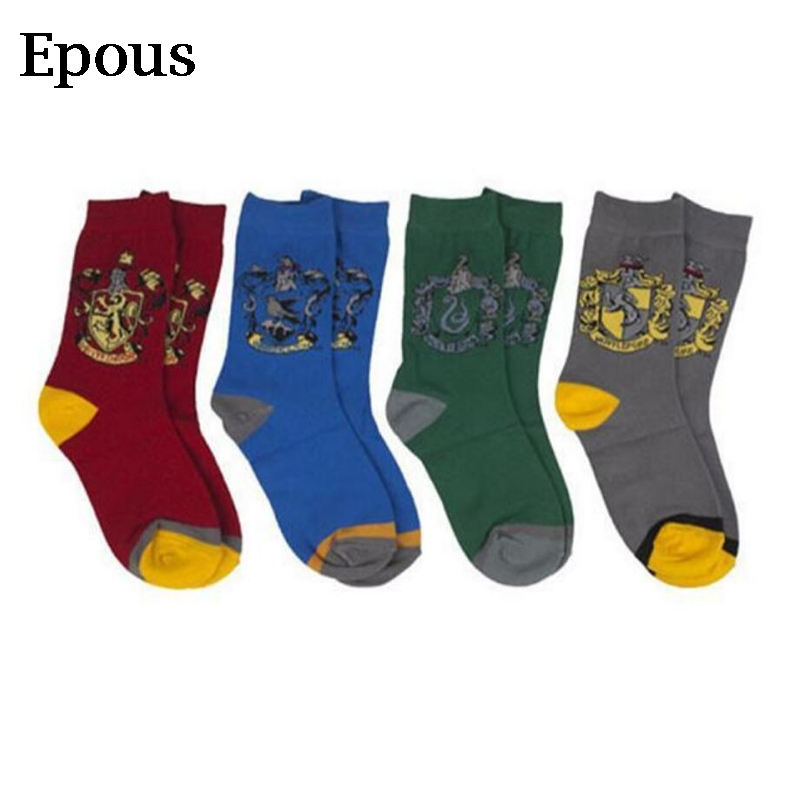 Epous 4pcs/lot Harry Potter Hogwarts School High Quality Plush Sock Toy Halloween Cosplay Party Show Magic Sock Toys