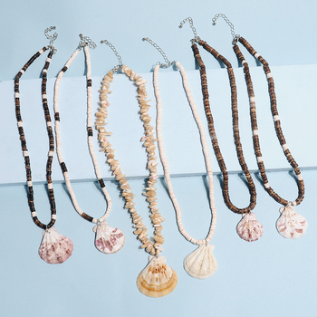 Artilady shell pendant necklace beads puka shell statement necklace 5