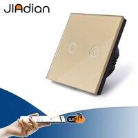 JIADIAN smart touch switch, Wireless Remote Control wifi Switch, Glass panel touch light Switch, Smart Sensor Wall light switch