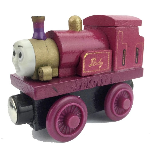 Queen lady Anime Tomas And Friends Wooden Train Model Toy