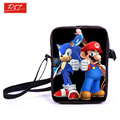 Young Men Mini Messenger Bag Mario Sonic Boom Crossbody Bag Boys School Bags Kids Book Bags For Snacks Schoolbags Best Gift