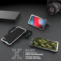 R just Stainless Steel Metal Flip Case For Samsung Galaxy Note 8 S7 edge S10 Plus Shockproof Cover for iphone XS XR MAX 8