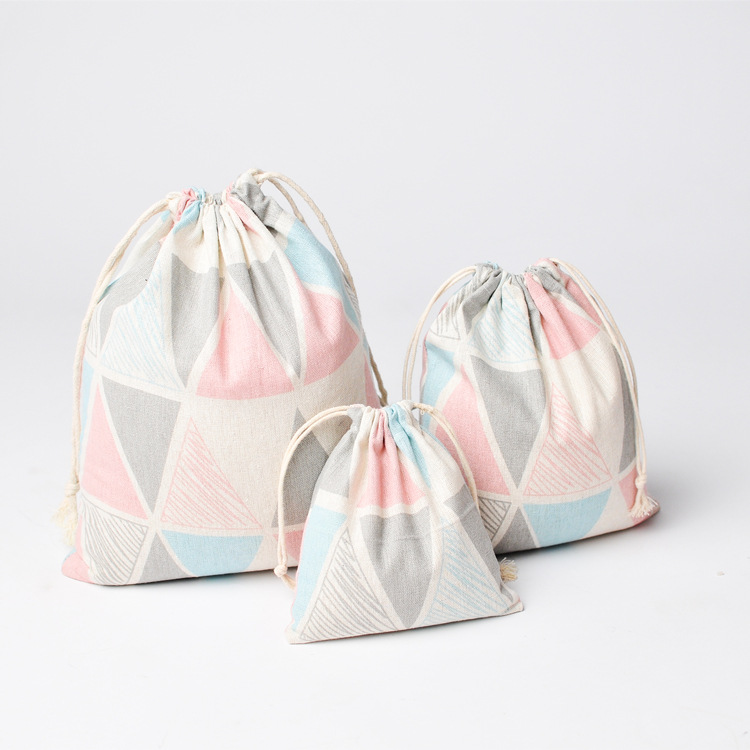 Colorful Pure Printed Linen Jewelry Gift Pouch 9x12cm 10x15cm 13x17cm Pack Of 100 Birthday Wedding Party Candy Bag Sack Chills And Pains