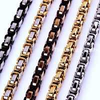 7 ~ 40 4/5/8mm Charming Schmuck 316L Edelstahl Silber/Gold/Schwarz/Rose Gold Byzantinischen Box Kette Herren Frauen Halskette/Armband