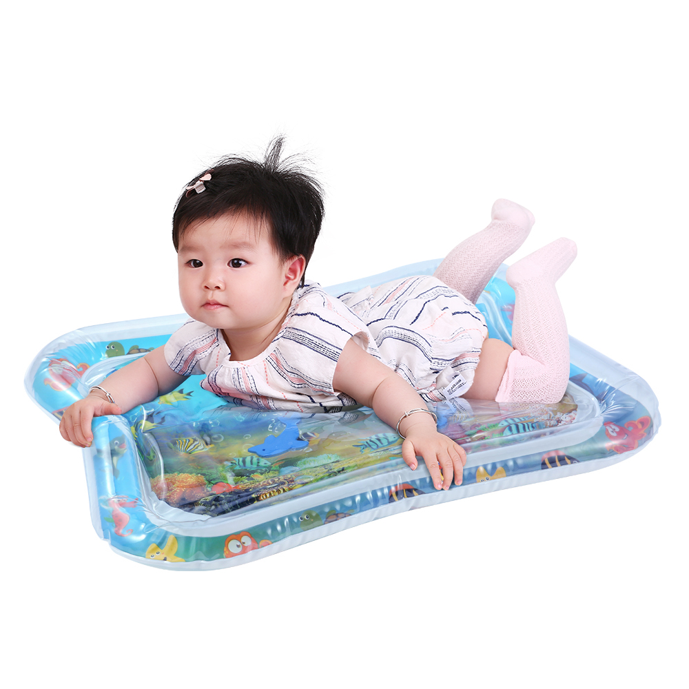 HTB1m4VhRhTpK1RjSZFMq6zG VXaR Baby Kids Water Play Mat Toys Inflatable thicken PVC infant Tummy Time Playmat Toddler Activity Play Center water mat for babies