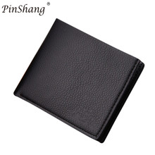 ФОТО pinshang fashion men wallet wearable concise pu leather multi position high quality designer purse men boys teens gift  zk30
