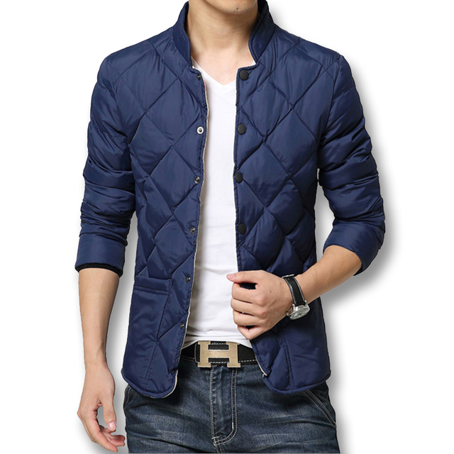 Fashion Men Down Parkas 2016 Men Brand Winter Coats Slim Fits Men Jackets 5XL Plus Size Solid Hot Sale Good Quality Men Outwears