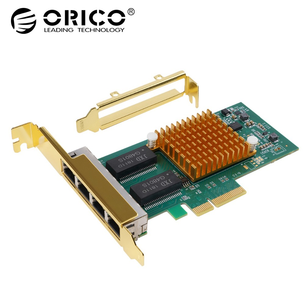 ORICO 4 Port PCI E to RJ45 PCI Express Expansion Card High Speed PCI e PCIe For Desktop Computer Components win 10 Add On Cards