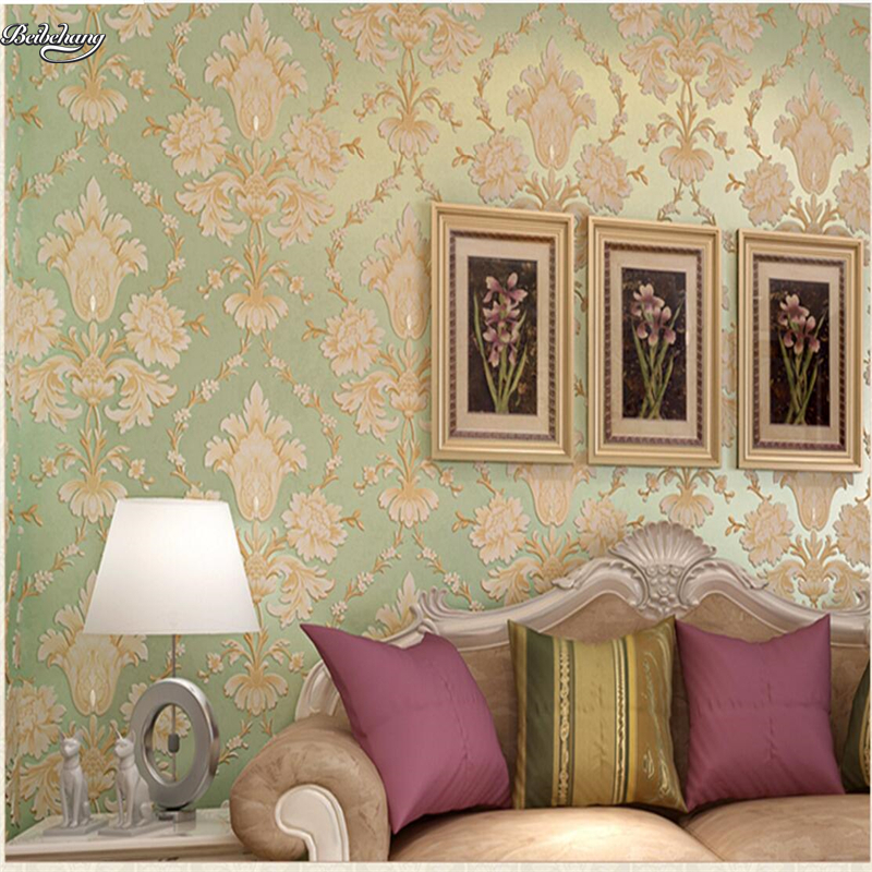 beibehang European luxury 3D 3D embossed diamond wallpaper Damascus bedroom living room TV background non-woven wallpaper beibehang european soft bag non woven wallpaper bedroom living room tv background lattice diamond shaped relief 3d wallpaper